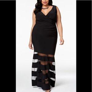 Formal Dress Plus Size 18W Black Tie BETSY & ADAM